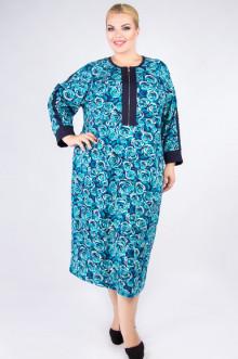 "Платье ""Артесса"" PP53006ROS14 (Бирюзово-синий)"